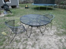 2 Vintage woodard wrought iron patio chairs in Cleveland, Texas