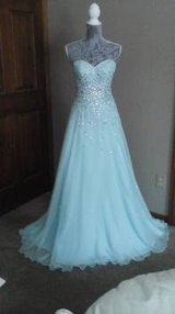 Dress from Peaches Boutique, Mori Lee 13993087 sz 2 mint color in Elgin, Illinois