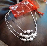 Three tier sterling silver necklace in Fort Polk, Louisiana