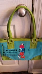 Blue / Green Coach Purse in Fort Campbell, Kentucky