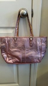 Pink Metallic Coach Purse in Fort Campbell, Kentucky