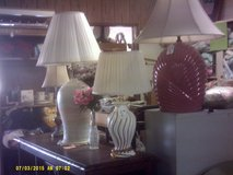 Variety of table and floor lamps in San Ysidro, California