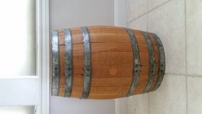 Wooden Barrel with Steel Bands in Conroe, Texas