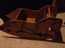 Wood Rocking Horse in Fort Campbell, Kentucky
