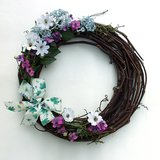 "SPRING GRAPEVINE FLORAL DOOR WREATH ARRANGEMENT 13"" in Westmont, Illinois"