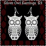 Silver Owl Earrings NEW in Fort Benning, Georgia