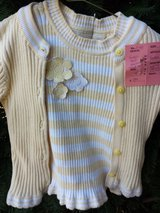 Girls 4T Twin Set Cardigan & Tank TCP Spring Easter in Glendale Heights, Illinois