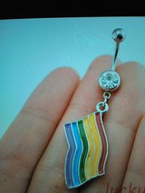 rainbow belly ring in Camp Lejeune, North Carolina