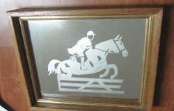 Jumping Horse Mirror  (Etched) Hunter Jumper? in Montgomery, Alabama