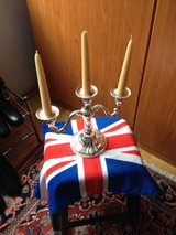 Silver Plated  candlabra  with candles    Reduced in Stuttgart, GE
