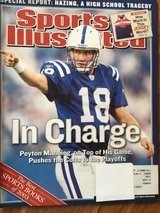 Sports Illustrated December 22nd, 2003 Featuring Peyton Manning in Plainfield, Illinois