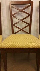 2 Chairs Set, possibly dark oak...? Needs reupholstered seats in Fort Bliss, Texas