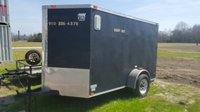 6 X 10 ENCLOSED TRAILER.  2 INCH BALL Available at 3100 Freedom Way in Hubert. in Camp Lejeune, North Carolina