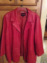 Beautiful Red Leather Jacket in Conroe, Texas