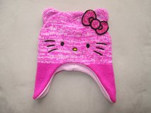 Girls Sanrio Hello Kitty Pink Earflap Hat Knit One Size Acrylic and Polyester in Plainfield, Illinois