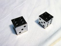 NEW Large Silver Dice w/ Velvet Pouch and Directions in Kingwood, Texas