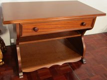 Walnut Telephone or Entryway Table with a Drawer in Ramstein, Germany