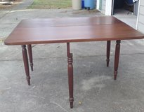 Vintage one-sided solid wood drop leaf table in Camp Lejeune, North Carolina