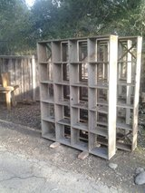 Shelf For In Or Outside   Reclaimed / Recycled Redwood   Including 96 Empty Wine Bottles in Los Angeles, California