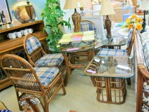 NICE Rattan Table & 4 Chairs (2128-5) in Camp Lejeune, North Carolina