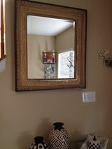 Large BOMBAY CO. ANTIQUED GOLDEN ORNATE FRAME MIRROR, STUNNING!! in Algonquin, Illinois
