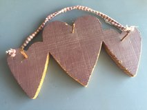 Heart wall hanger with 3 old nails to hang things on in Camp Lejeune, North Carolina