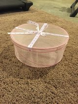 Collapsible see through mesh pink hat box in Batavia, Illinois