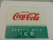 Coca-Cola Glass Sign in Camp Lejeune, North Carolina