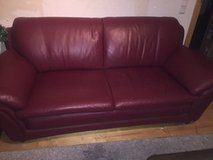 Real Leather Couch, Love Seat and Chair set in Ramstein, Germany