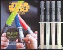 Star Wars Cook Book Ice Sabers Chilled Treats Cookbook Lightsaber Ice Pop Molds 2013 in Kingwood, Texas