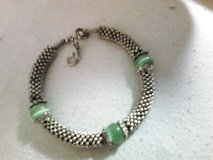 Silver and green beaded Bracelet in Colorado Springs, Colorado
