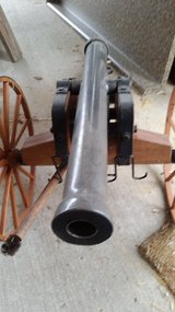 1/2 Scale civil war black powder signal noise cannon in Fort Leonard Wood, Missouri
