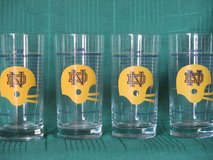 1940's Notre Dame Commemorative Glass - 4-pc set in Westmont, Illinois