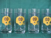 Notre Dame Commemorative Glasses '66 '73 '77 '88 in Westmont, Illinois
