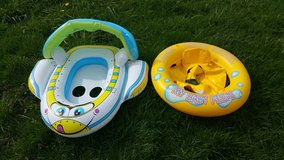 Children pool inner tubes and inflatables with sun protection in Fort Lewis, Washington