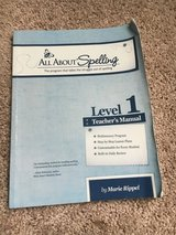 All About Spelling Teacher Book Level 1 in Beaufort, South Carolina