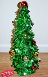 TALL FOIL TABLETOP CHRISTMAS TREE in Lakenheath, UK