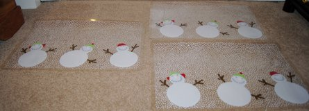CHRISTMAS PLACEMATS, SNOWMEN x3 in Lakenheath, UK