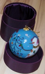 CHRISTMAS PIER 1 IMPORTS SNOWMAN ORNAMENT IN BOX in Lakenheath, UK