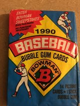 Unopened 1990 Bowman Baseball Packs of Cards with original gum in Chicago, Illinois