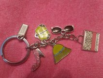 Coach key chain with charms in Joliet, Illinois