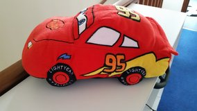 43cm Pixar Red Cars Lightning McQueen Decorative Pillow in Lakenheath, UK