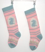 ONLY $1 EASTER Vintage Set of 2 Brand New Knitted Easter Stockings in Yorkville, Illinois