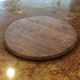 Wine barrel lazy susan in Chicago, Illinois