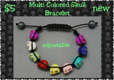 Multi Colored Skull Bracelet in Columbus, Georgia
