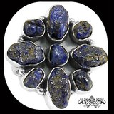 New - Blue Azurite Rough Ring - Size 7 in Alamogordo, New Mexico