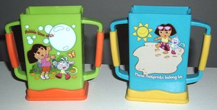 2 Munchkin Plastic Dora The Explorer Grip N Sip Juice Box Holder in Morris, Illinois