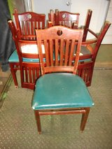 (34) Shelby Williams Slat Back With Cutout Green Vinyl seat DR Chairs in Westmont, Illinois