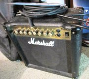 "Marshall Electric Guitar Amp 15w 8"" speaker 2 Channel Reverb Delay Chorus FDD flange Amplifier in Houston, Texas"