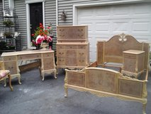 feminine french vintage carved bedroom set in Naperville, Illinois
